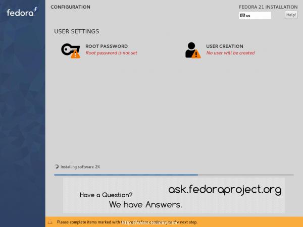 Fedora 21 Installation
