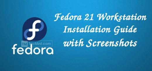 Fedora 21 Workstation Installation