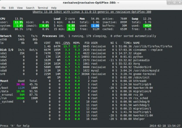 13 Linux Performance Monitoring Tools Part 2