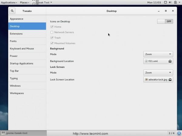 Install Gnome Tweak in Fedora 221