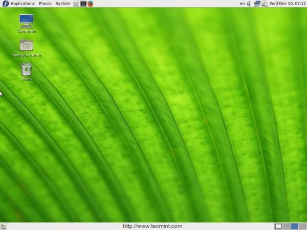 Install Desktop in Fedora 21