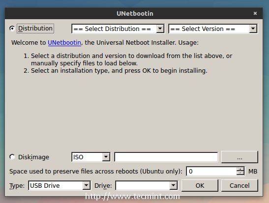 Install Linux from USB
