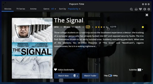 Install Popcorn Time in Fedora 21