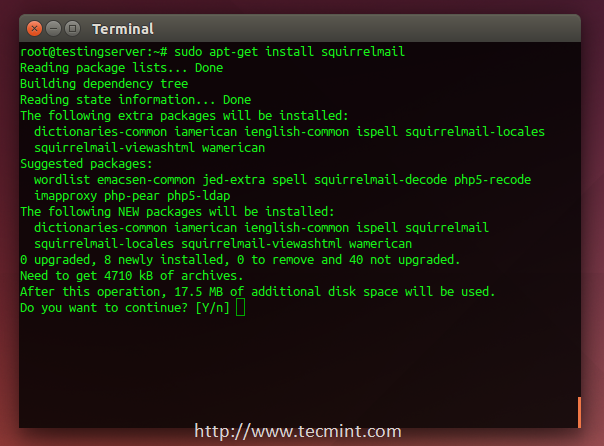 install squirrelmail in Ubuntu