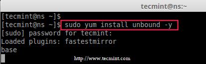 Install Unbound DNS Package in CentOS 7