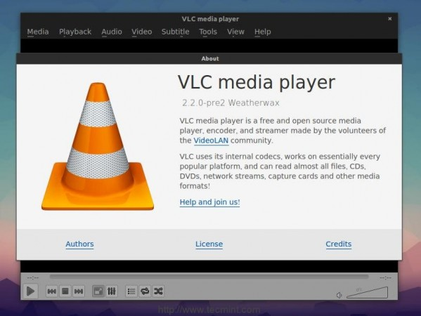 Install VLC Player in Fedora 21