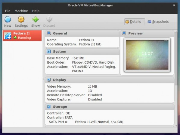 Install VirtualBox in Fedora 21