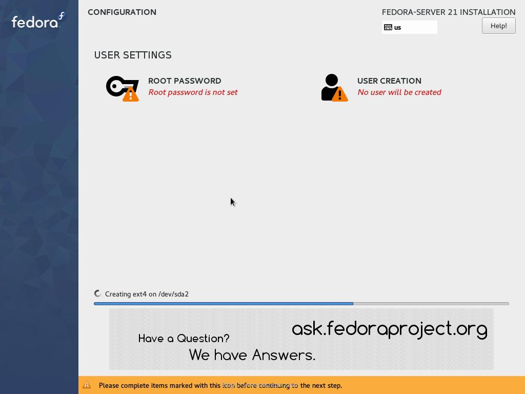Fedora 21 Server Installation Guide with Screenshots