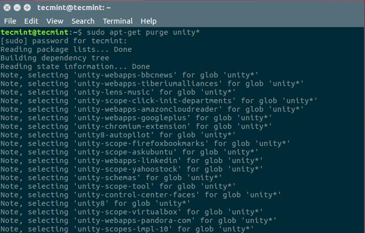 Remove Unity Ubuntu Desktop