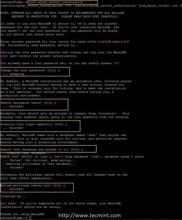 Secure MariaDB in Ubuntu 14.10