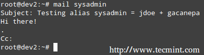 Send Mail from Commandline