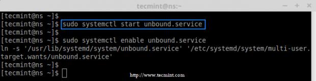 Start Unbound DNS Service