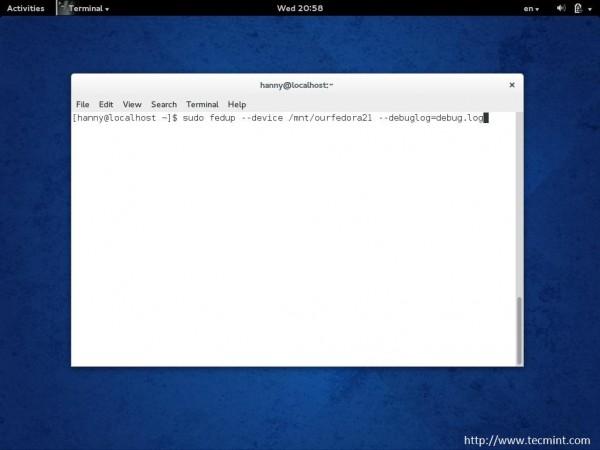Upgrade Fedora Using Device