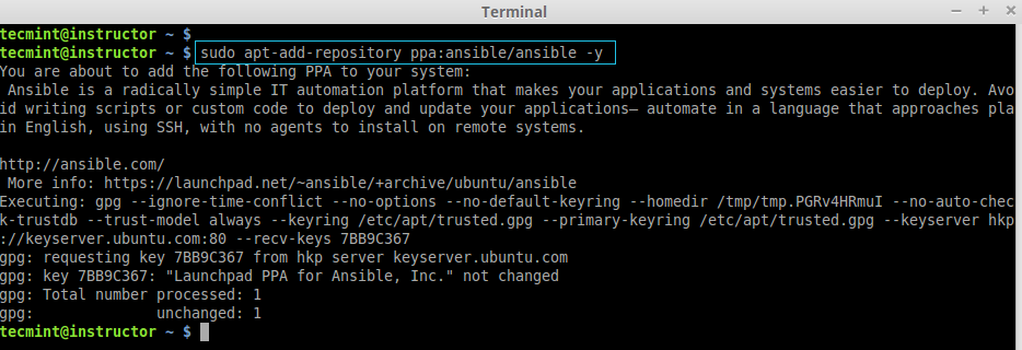How to Install and Configure 'Ansible' Automation Tool for IT