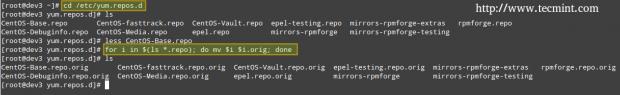 Backup Yum Repositories
