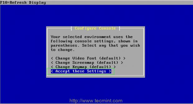 Configure Console