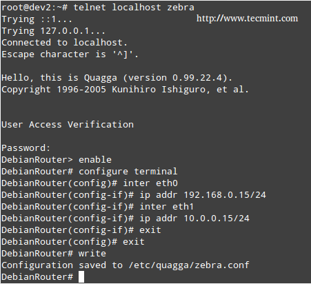Configure Router in Linux