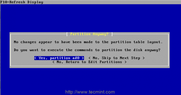 Confirm Partition