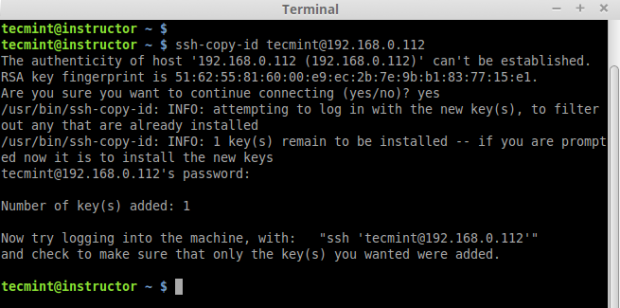 Copy SSH Key Remote Server