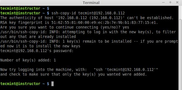 Copy SSH Key Remote Server