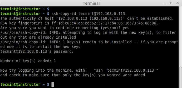 Copy SSH Key Second Remote Host