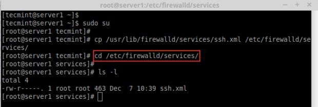 Create Firewalld Service