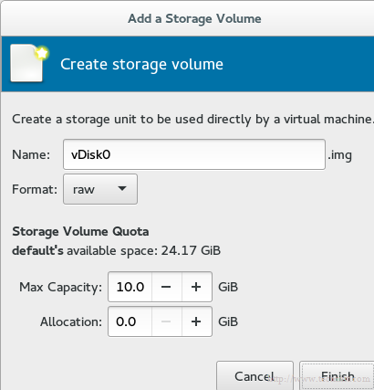 Create KVM VM Storage Disk