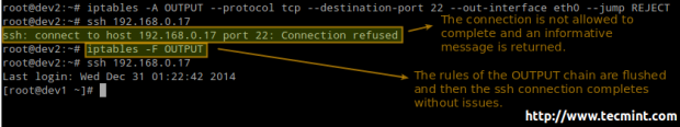 Block SSH Login in Linux Firewall
