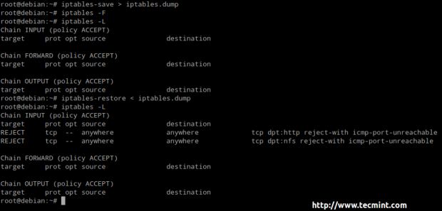 Save Iptables Rules in Linux