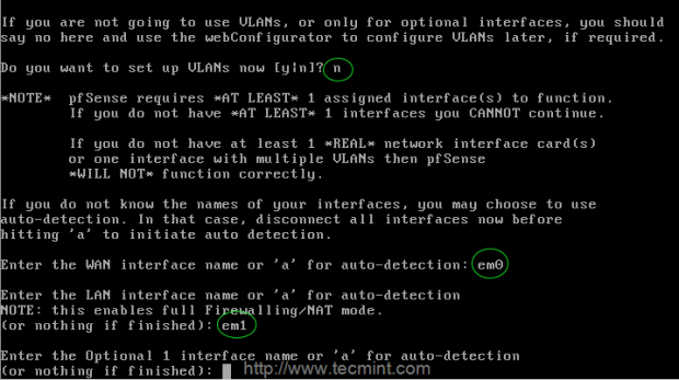 Enable Network Interfaces