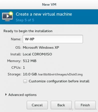 Enter Name of Virtual Machine