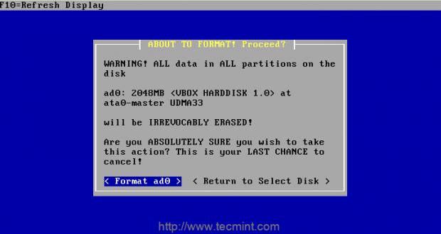 Format Data on Disk