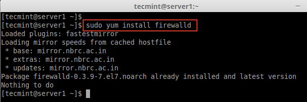 Install Firewalld in CentOS 7