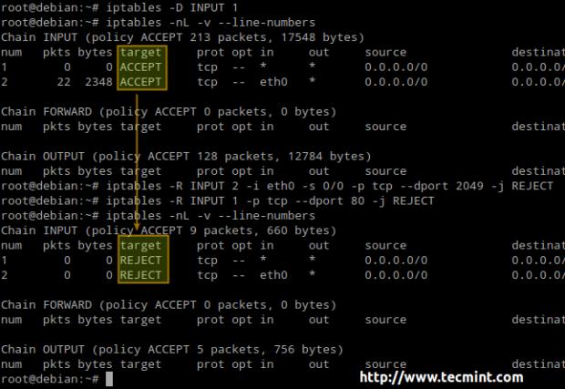 Linux Iptables Drop Rule
