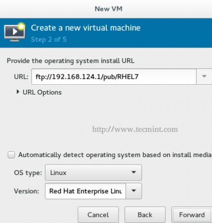 KVM FTP Network Install
