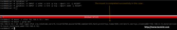 Open NFS Ports in Firewall