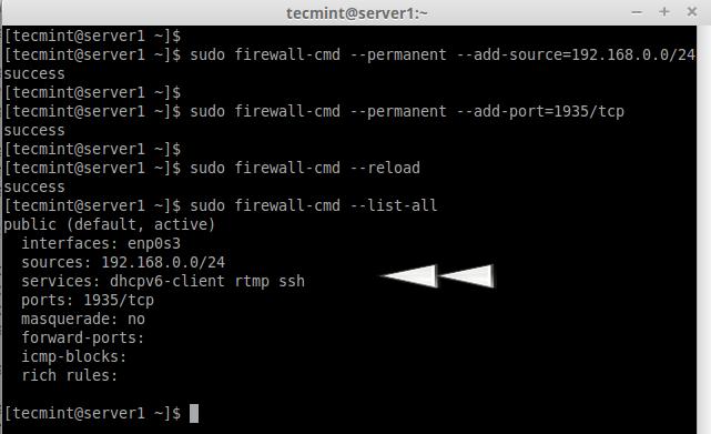 Open Port in Firewalld