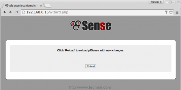 Reload pfSense Changes