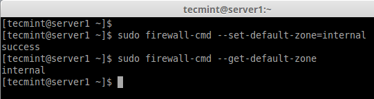 Set Firewalld Default Zone