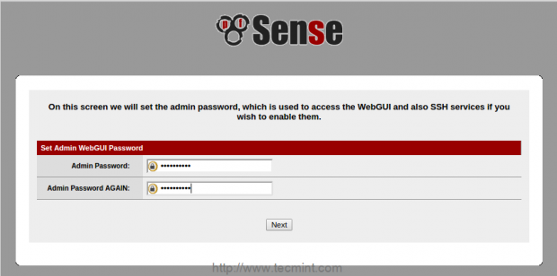Set pfSense Password