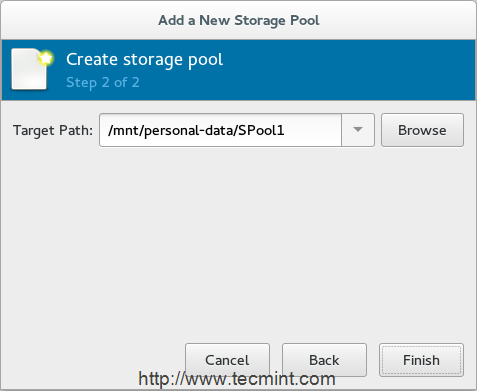KVM Storage Pool Location