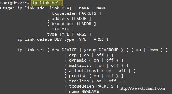 IP Command Help