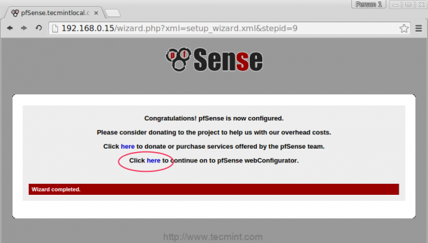 pfSense Configured
