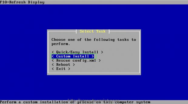 pfSense Custom Install