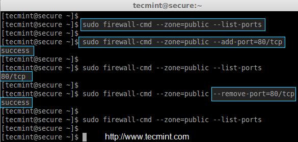 Add Port in Firewalld