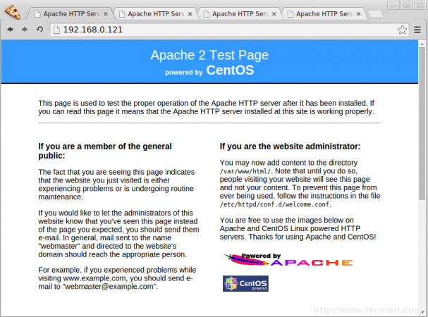 Check Apache Status