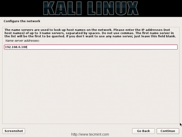 Configure Name Server