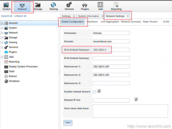 Configure Network Gateway
