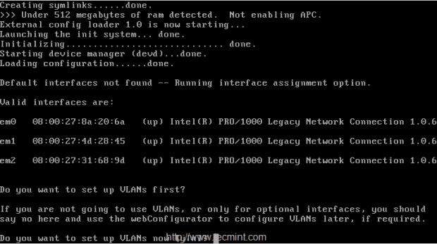 Configure Pfsense Interfaces