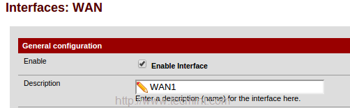 Configure WAN1 Interface